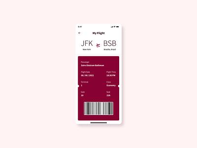 Boarding Pass simple flight boarding pass design app dailyui ui