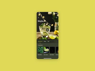 Recipe drinks recipe 040 design app dailyui ui