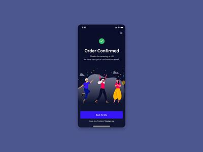 Confirmation 054 order confirmation design app dailyui ui