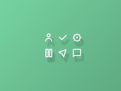 Icon Set 055 icon set web design app dailyui ui