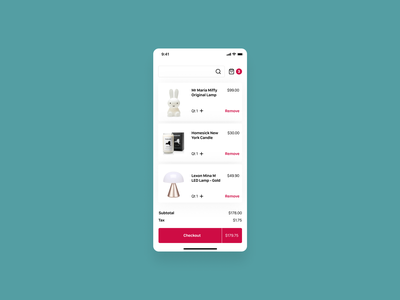 Shopping Cart checkout cart ux popular shopping cart design app dailyui ui
