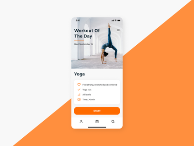 Workout of the Day 062 workout exercise yoga workout of the day design app dailyui ui