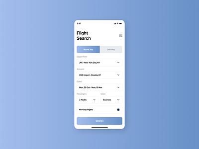 Flight Search flight search 068 mobile concept design app dailyui ui