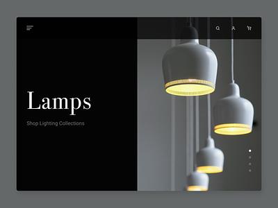 Image Slider 072 lamp image slider web concept design dailyui ui