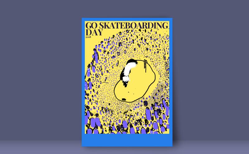 Go Skateboarding Day 2018 Poster skateboarding sports poster illustration design