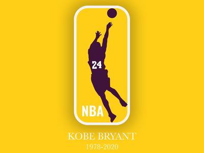 Rest in Peace Kobe - NBA Logo Honor