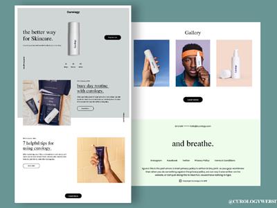 Curology Skincare Redesign website skincare