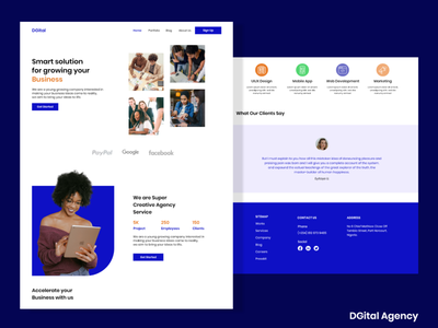 Digital Agency website design web agency digital branding design ux ui