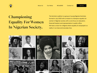 Feminist Coalition Website agency design ux ui community feminist