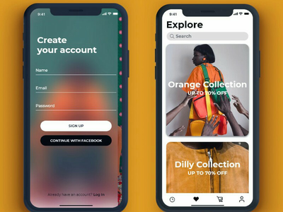 Pith Africa Ui Design pt2 ux ui woman sign up explore clothing shopping fashion