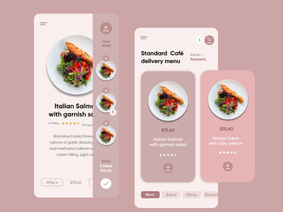 Recipe App design ux ui dinner order shopping food recipe cooking