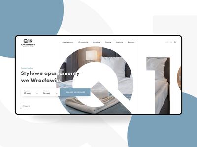 Q19 Apartments - web design
