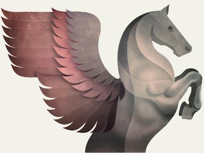 Pegasus illustration pegasus horse wings packaging