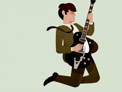 George gretsch illustration guitar music beatles