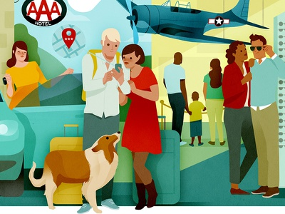 AAA Living family figures lifestyle car aaa living dps