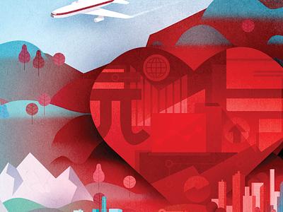 Heart city plane map wip