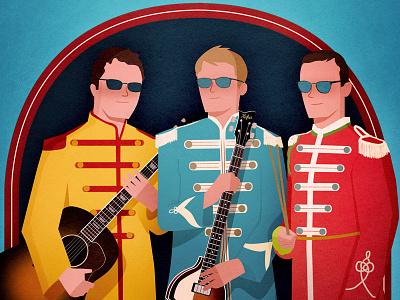 Beatles cover band poster guitar poster hoofer music beatles