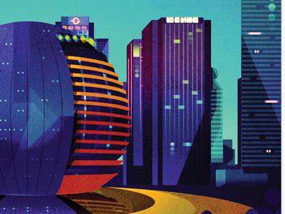 wip - city illustration skyscrapers buildings city