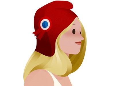 Marianne editorial hair girl illustration republique marianne france