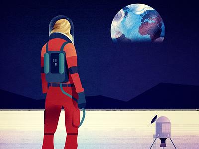 Moon - Personal work illustration space astronaut moon