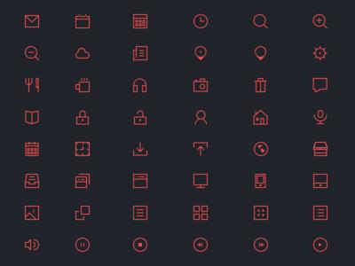 48 Thin Icons
