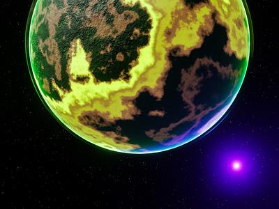 Radiated Planet - 3D Blender radiation space planet blender3d 3dblender blender graphic design 3d design
