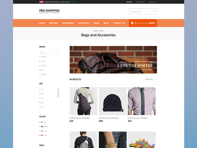 Ecommerce Listing Page