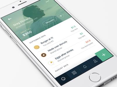 Splitwise App Redesign redesign money bills cash splitwise friends mobile profile ios app