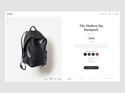 Hide Product Page (Concept project)