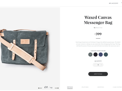 Hide - Ecommerce (Concept project) webpage website ui store shop view product interaction fashion ecommerce web ux