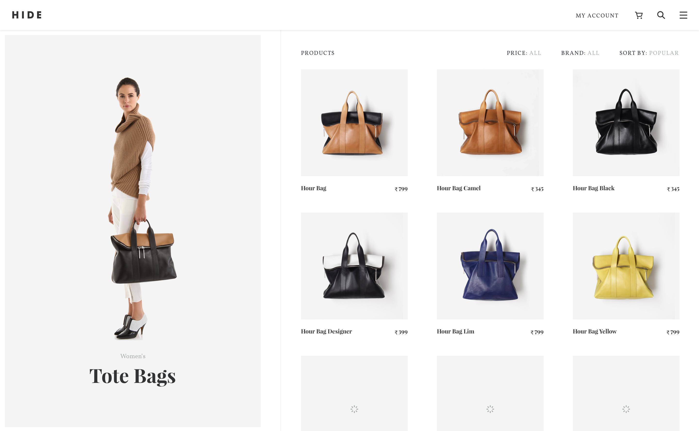 Hide   women s tote bags
