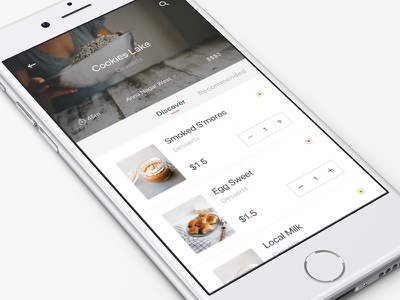 Food Delivery App lunch iphone restaurant meal mobile design delivery ios food app