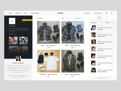 Grid - Profile (Concept Project) website web view grid ui store shop product interaction fashion experience ecommerce