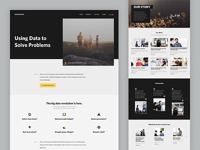 SocialCops - Company Page web design ui career web design about company team culture socialcops