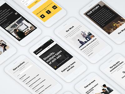 SocialCops - Responsive Mobile Web responsive mobile web layout ui career design about company team culture socialcops