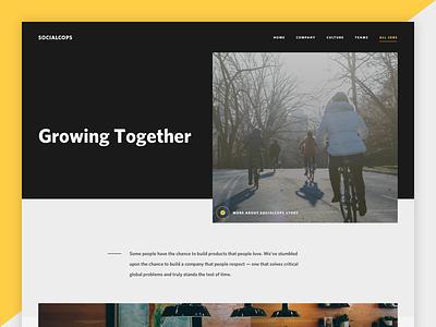 SocialCops - Culture Page socialcops culture team company about design web career ui web design
