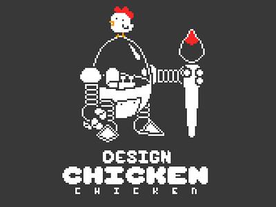 Design Chicken Chicken Challenge challenge brush orange black white paint pixelart art pixel 1bit robot chicken design dccrog