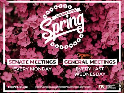 Spring Meeting Dates floral black orange pink logo butterfly flowers meetings dates meeting spring