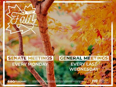 Fall Meeting Dates white bark autumn leaves tree green orange meetings dates meeting autumn fall
