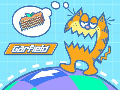 ChuChu Rocket! X Garfield orange blue white adobe illustrator game video lasagna kapu kapu cat fanart art fan cartoon sega garfield