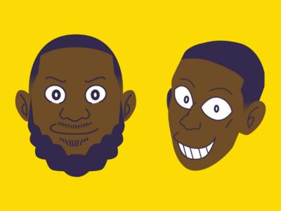 LeBron James & Rajon Rondo (Fujiko F. Fujio Style)