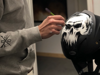 Helmet paint in progress