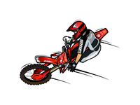 Rider cartoon design