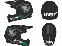 Helmet layout for paint