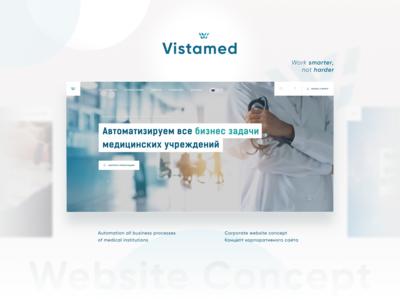 Medical Software Website Concept