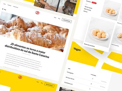 JD Alimentos Website identity branding ui ux design bread bakery yellow website uidesign uiux