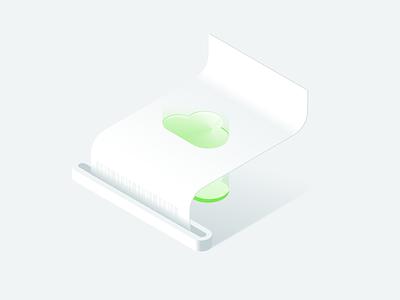 Isometric invoice invoice illustration ill design isometric