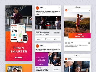 Strava Paid Social Marketing ab testing experimentation social media marketing social media paid social cycling app running app tracking app ads app strava
