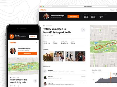 Strava Athlete Activity experimentation growth design fitness app cycling running product design web design strava