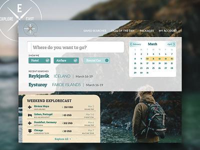 Explorecast Homepage 003 dailyui ux design ux homepage ui design ui web travel